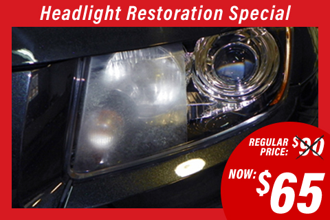 Headlight Restoration Special Pricing at Performance Paint & Dent